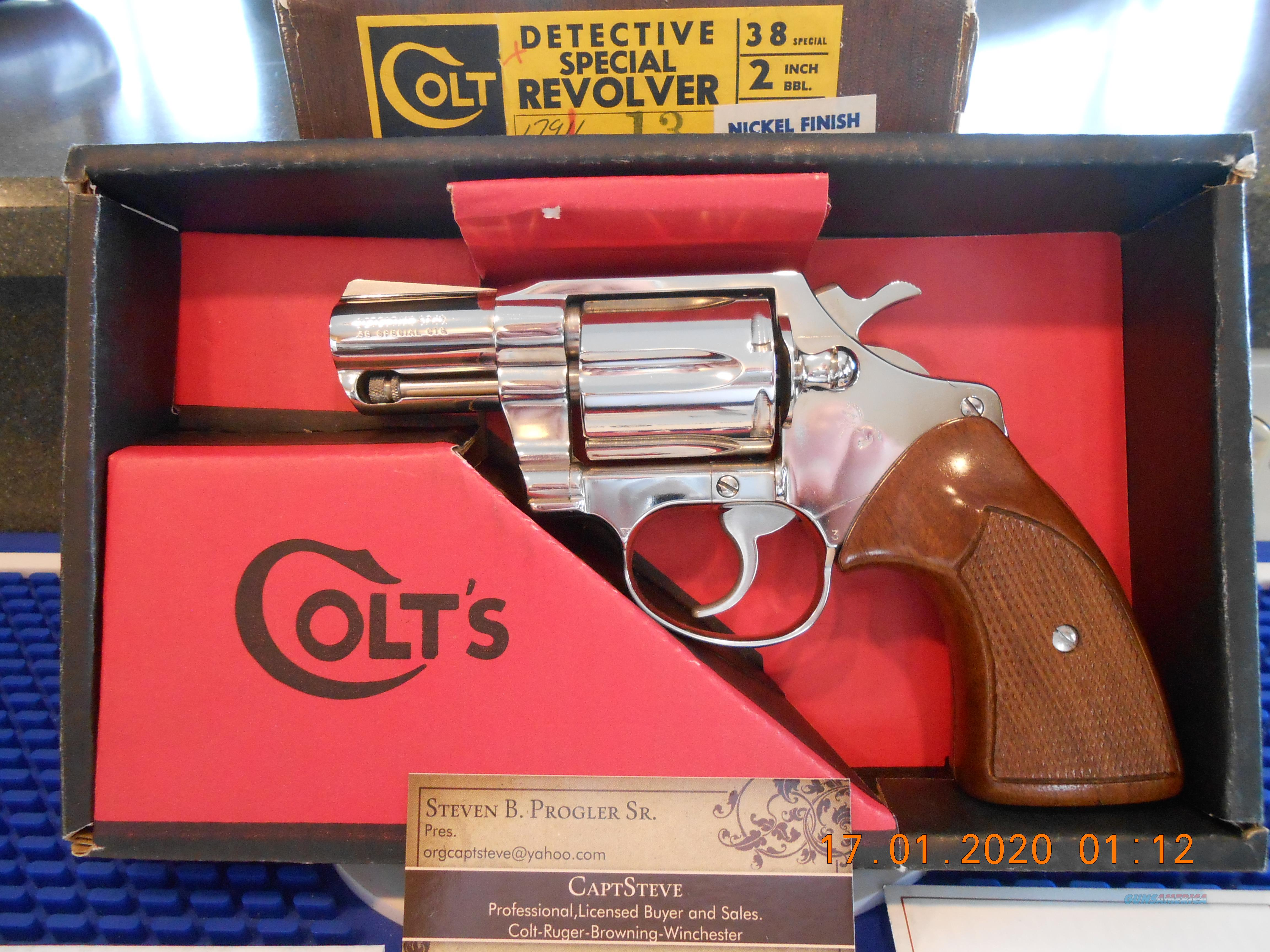 Colt Detective Special Nickel 38 Spcl. 3rd Issue, Unfired, Complete  Guns > Pistols > Colt Double Action Revolvers- Modern