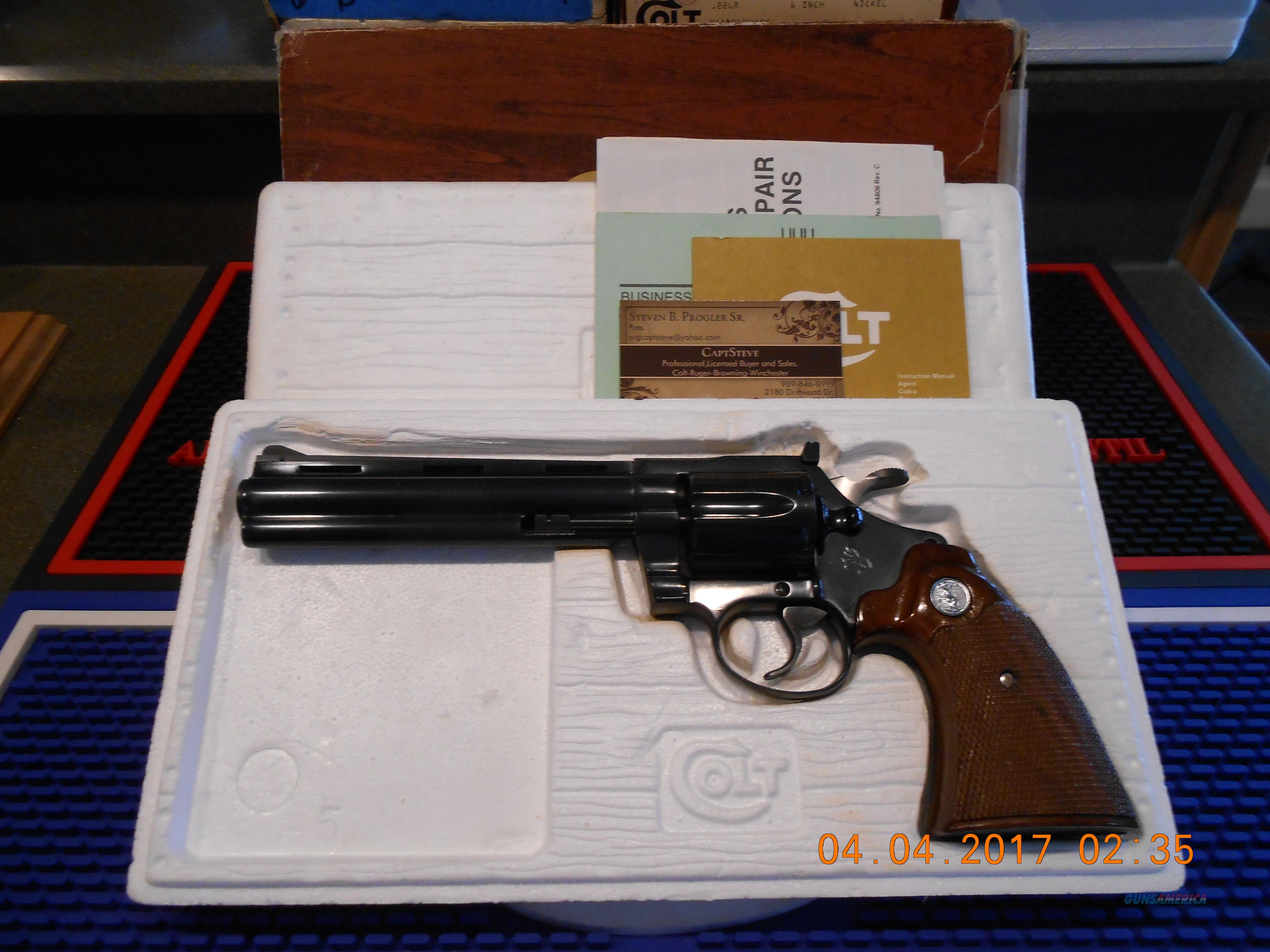 "Colt Diamondback 6"" Blue 38 Special As New  Guns > Pistols > Colt Double Action Revolvers- Modern"