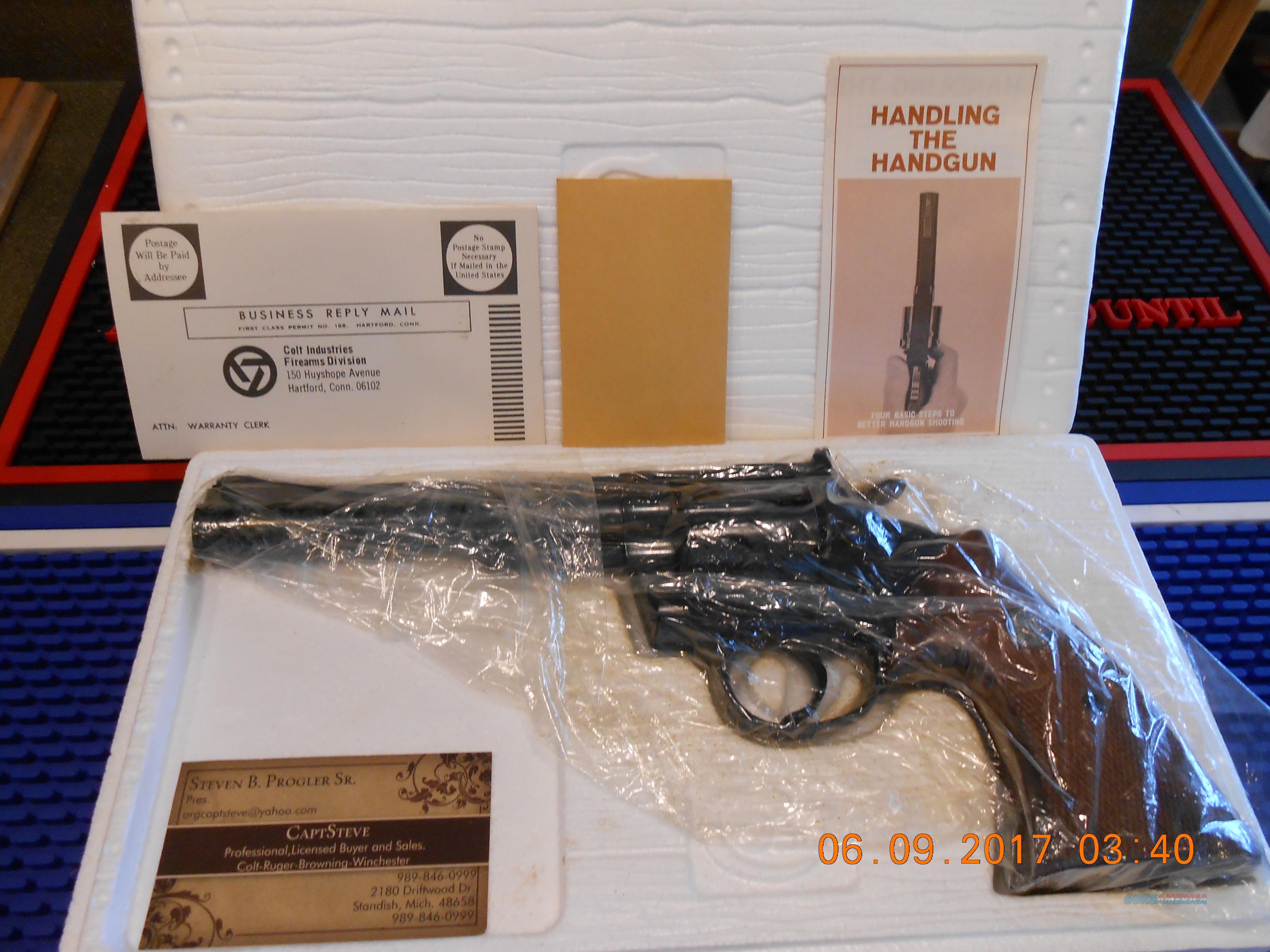 "NOS Colt Trooper Mk III 6"" Blue Complete 357 Mag.  Guns > Pistols > Colt Double Action Revolvers- Modern"