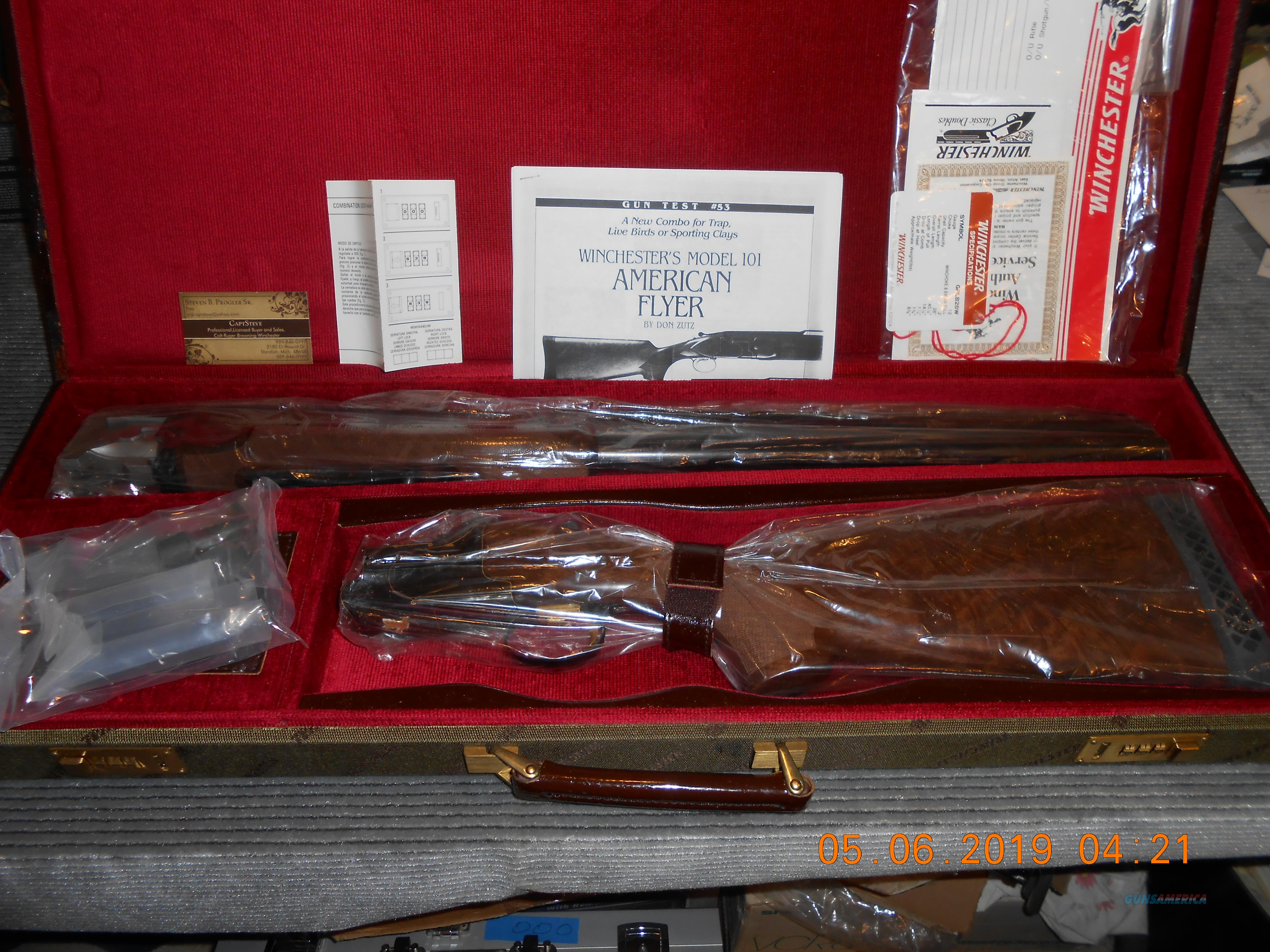 "NOS Winchester 101 American Flyer ""Live Bird"" Set Scarce  Guns > Shotguns > Winchester Shotguns - Modern > O/U > Trap/Skeet"