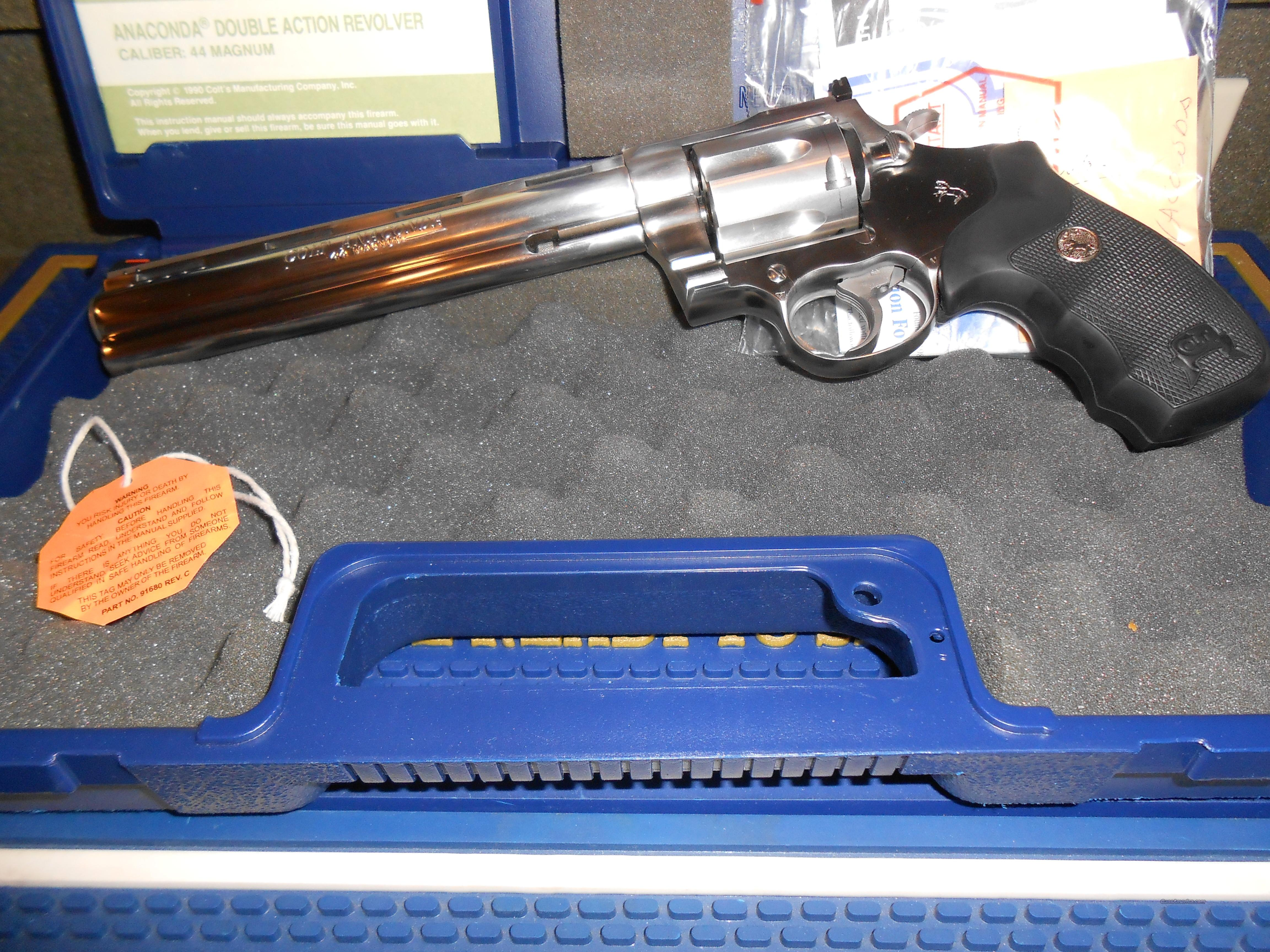 As New Colt Anaconda PDT Case, Papers  Guns > Pistols > Colt Double Action Revolvers- Modern