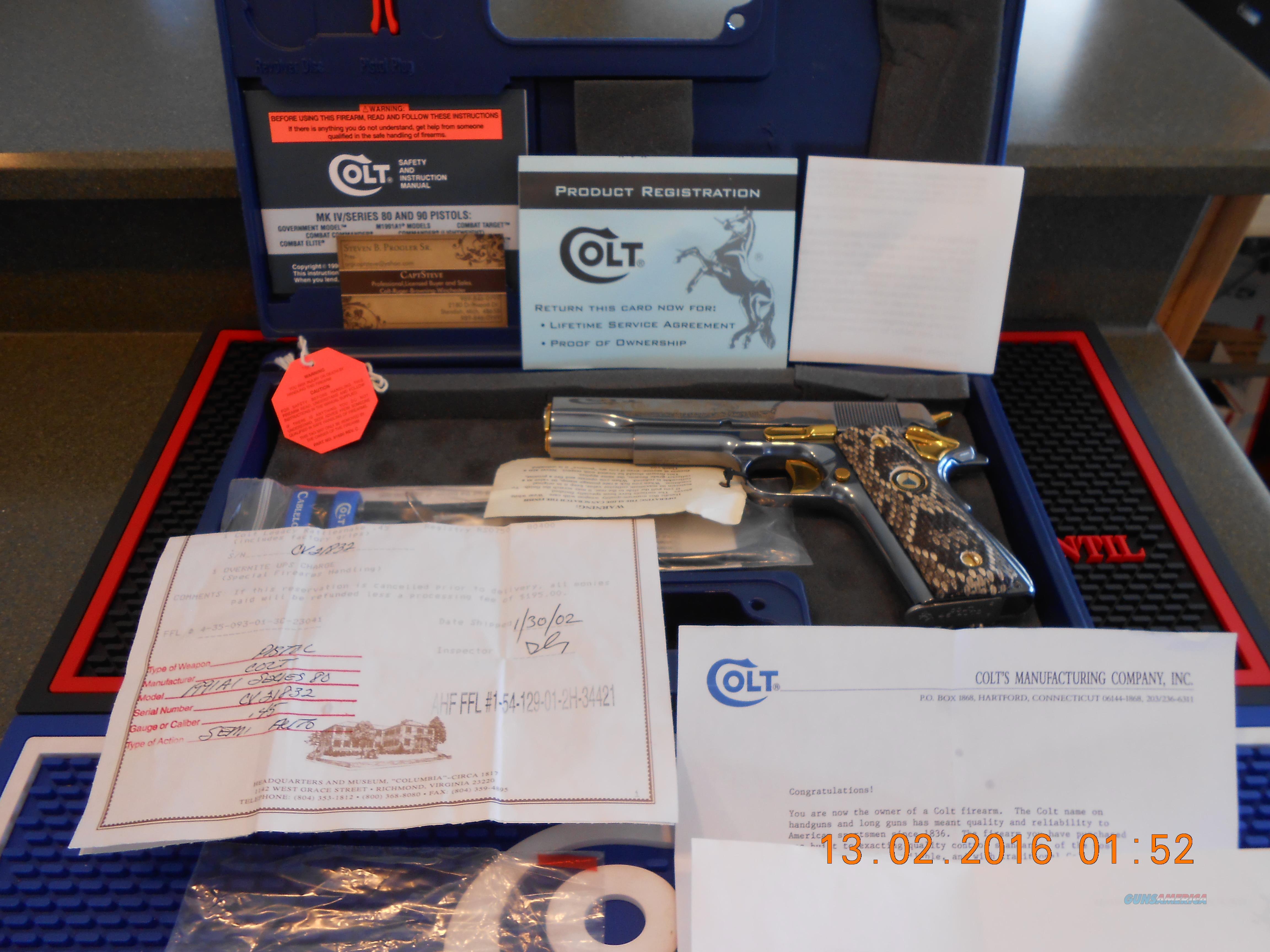 Colt RattleSnake Legacy Titanium  Guns > Pistols > Colt Commemorative Pistols