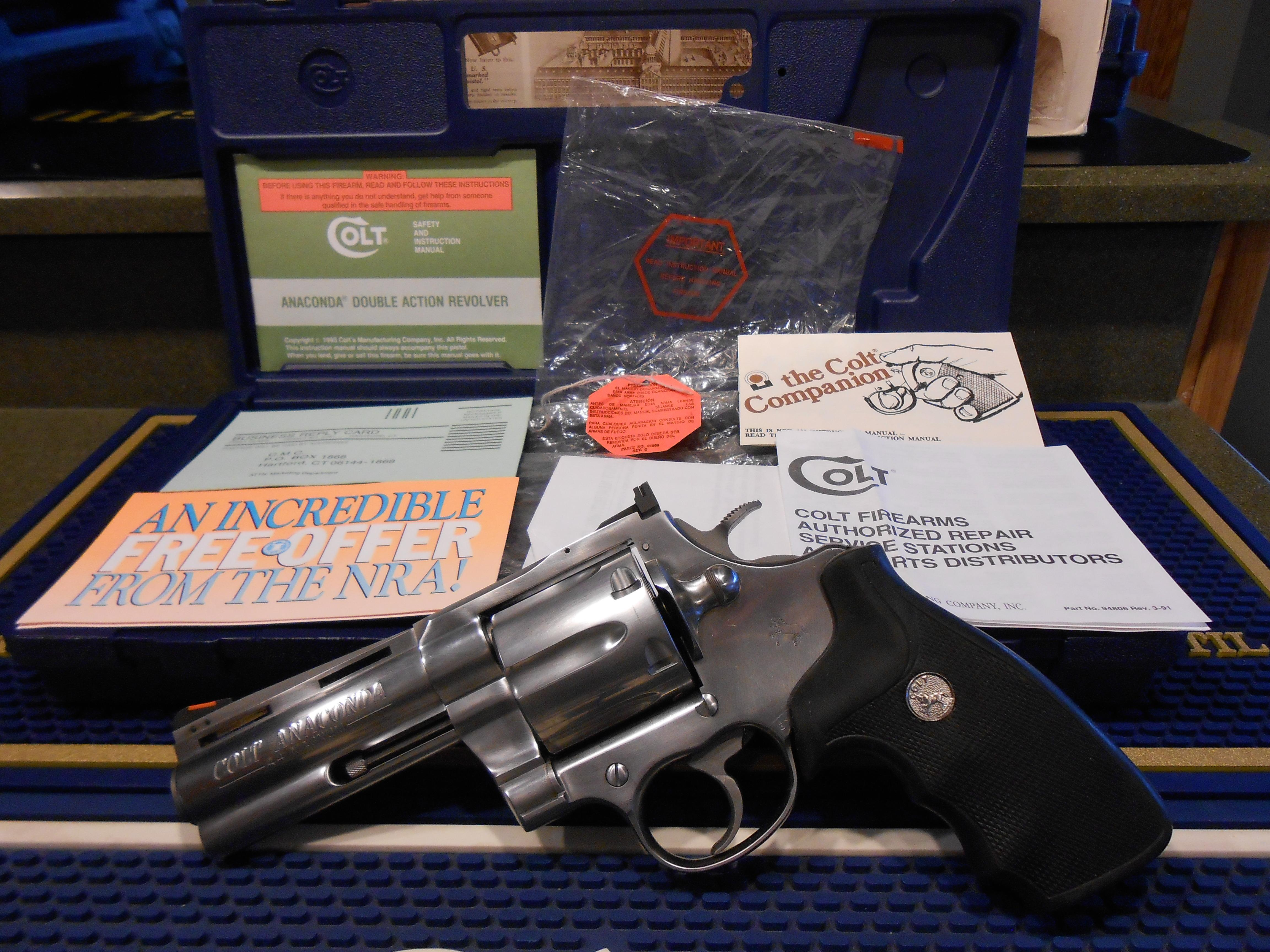 "Colt Anaconda 4"" Unfired / Complete  Guns > Pistols > Colt Double Action Revolvers- Modern"