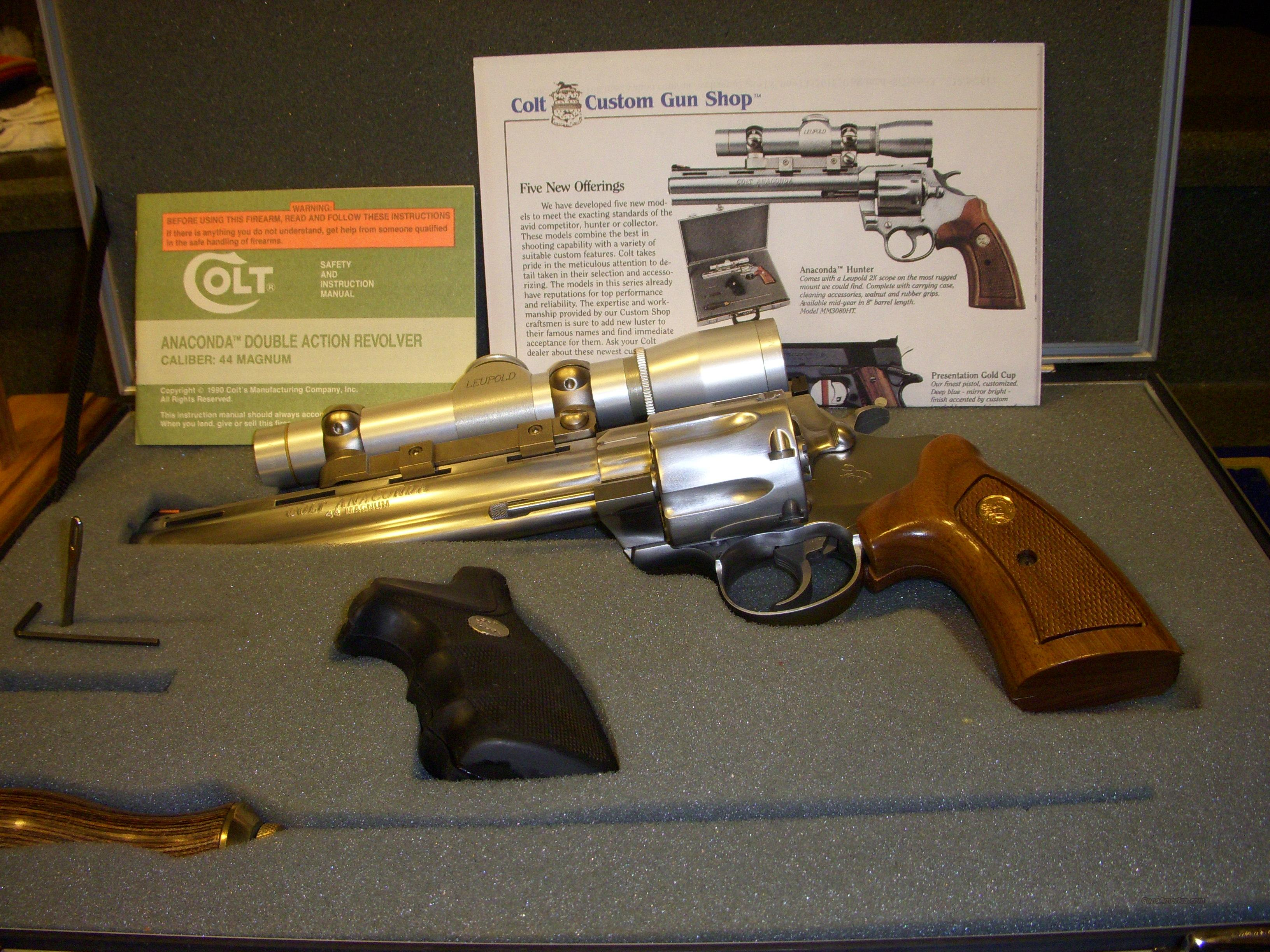 Colt Ananconda Hunter Unfired Complete  Guns > Pistols > Colt Double Action Revolvers- Modern