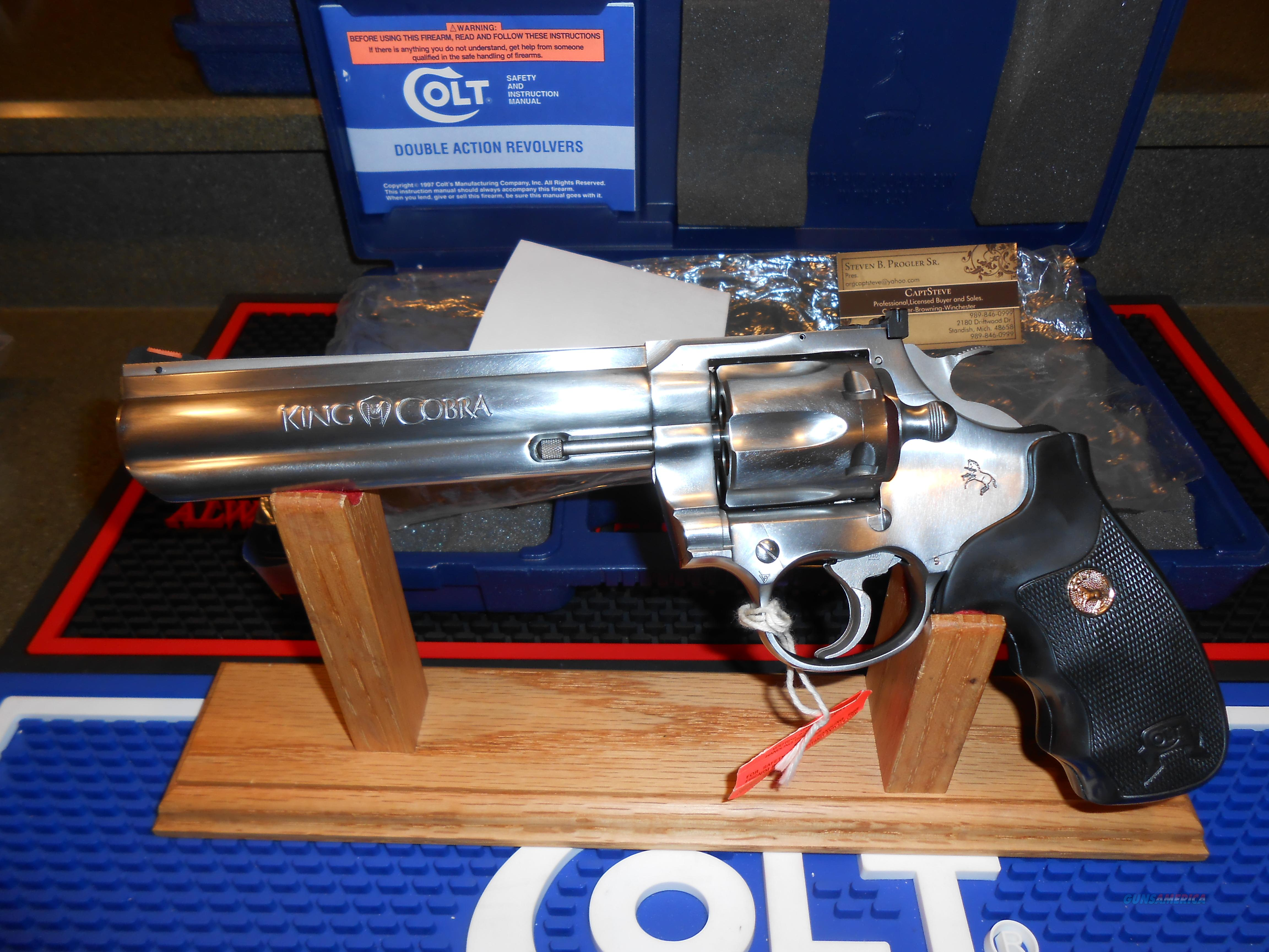 "Colt King Cobra 6"" EDT Unfired Complete  Guns > Pistols > Colt Double Action Revolvers- Modern"