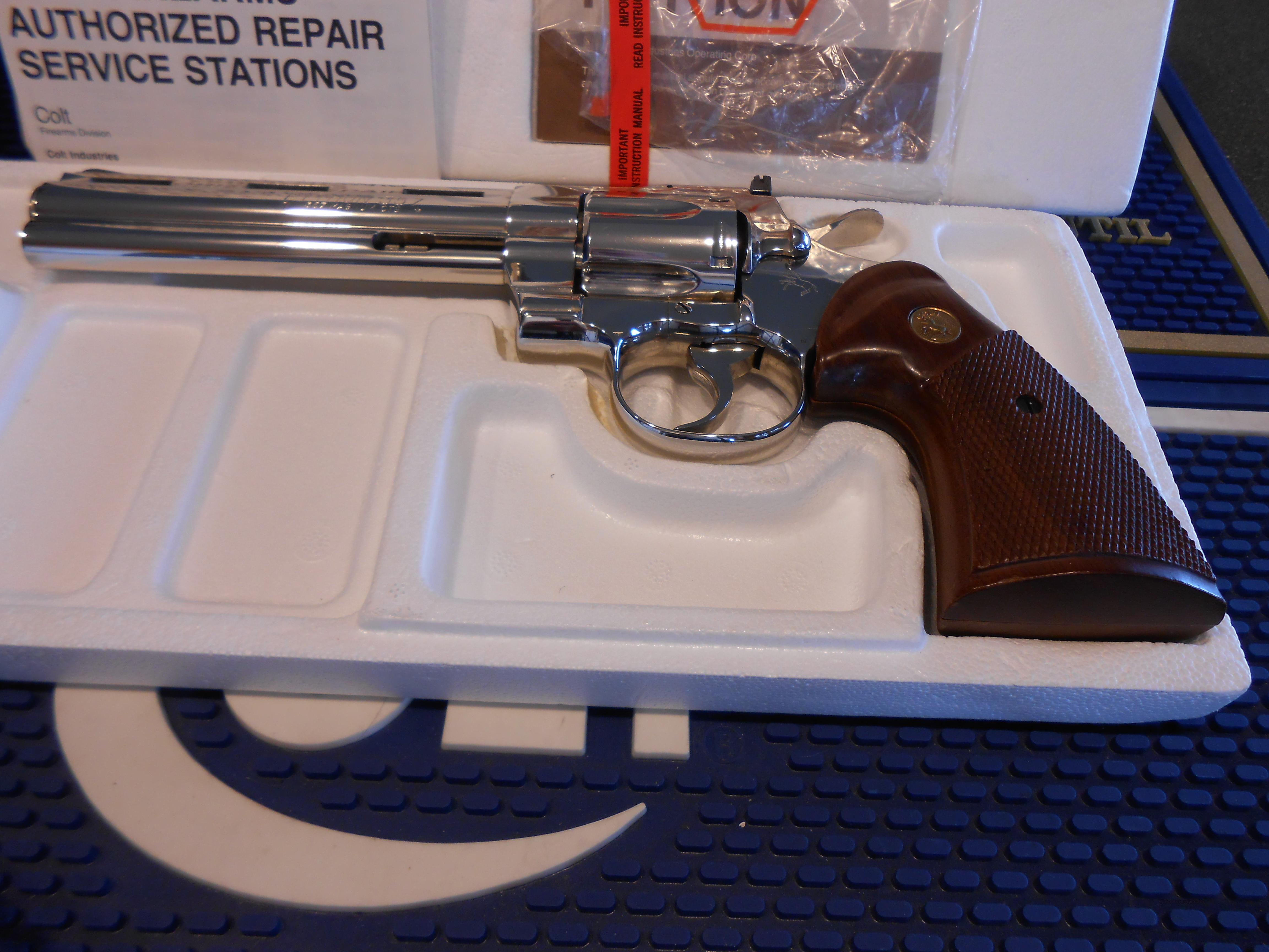 Unfired Colt Python 6' Bright Nickel  Guns > Pistols > Colt Double Action Revolvers- Modern