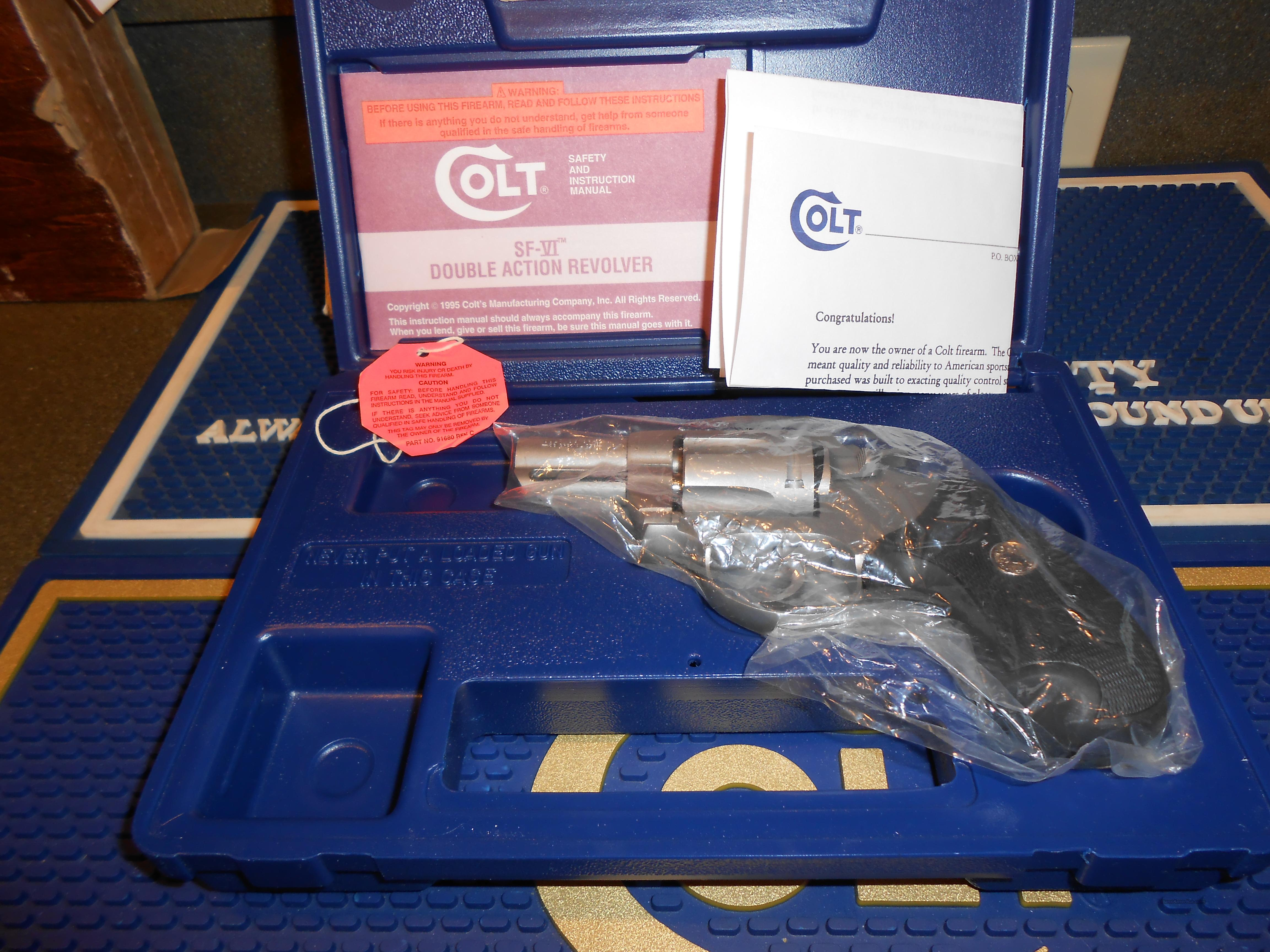 Colt SF-VI As New Complete  Guns > Pistols > Colt Double Action Revolvers- Modern