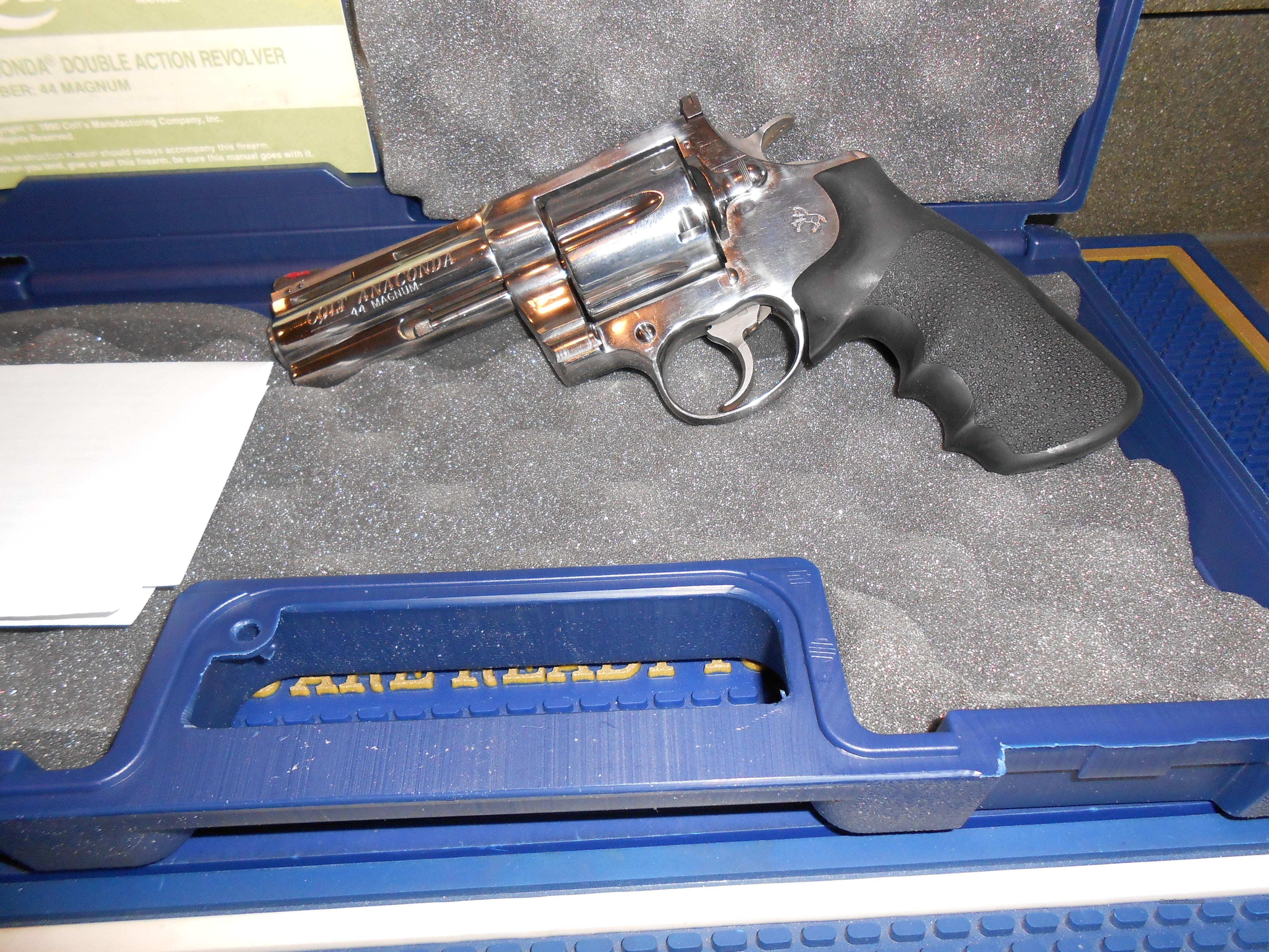 "Used Colt Anaconda 4"" Stainless  Guns > Pistols > Colt Double Action Revolvers- Modern"