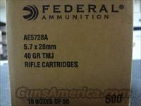 500RDS Federal American Eagle 5.7X28 40GR FMJ   Non-Guns > Ammunition