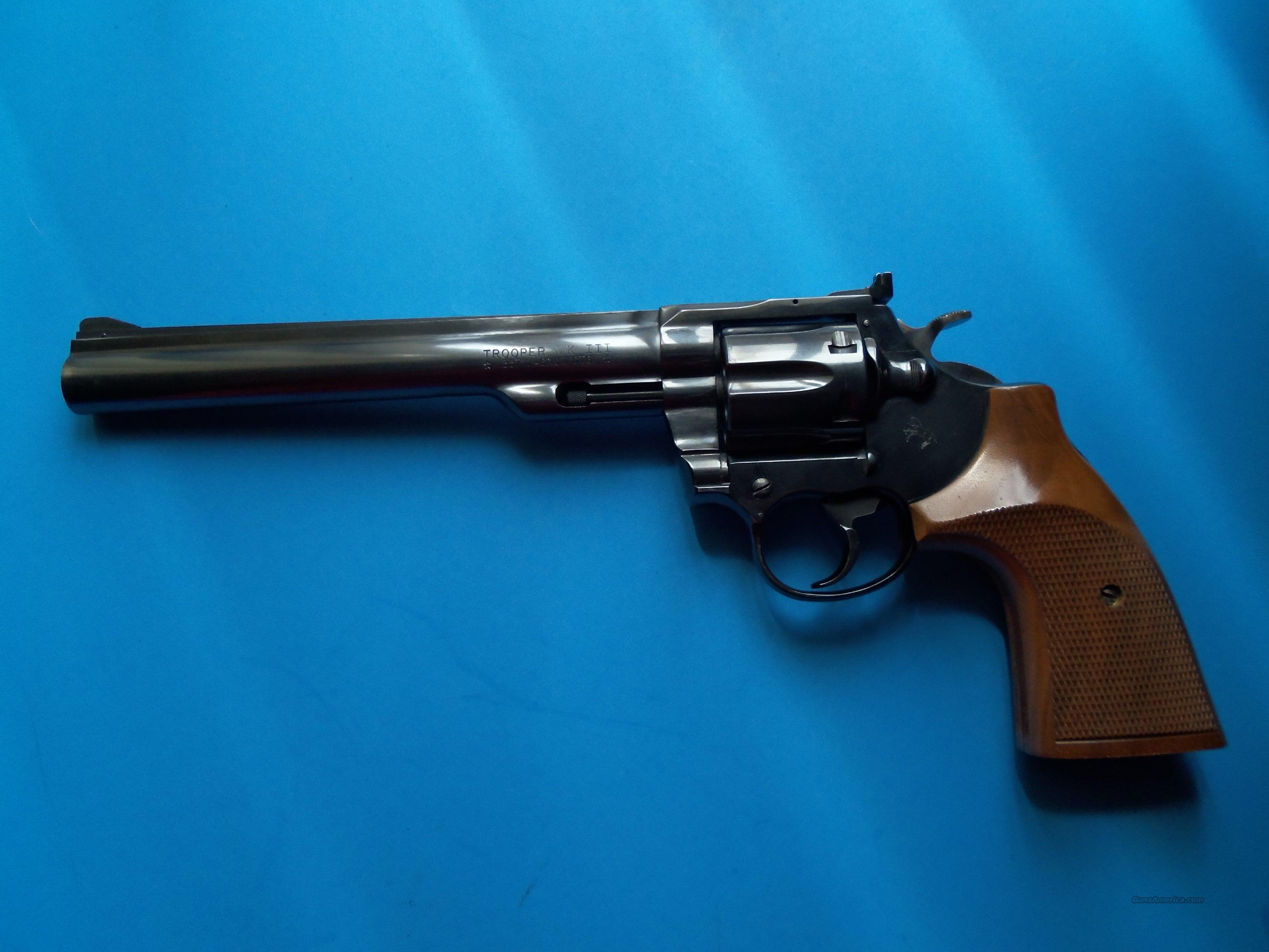 "1975 8"" COLT TROOPER MK III .357 MAGNUM HARD TO FIND LOW RESERVE  Guns > Pistols > Colt Double Action Revolvers- Modern"