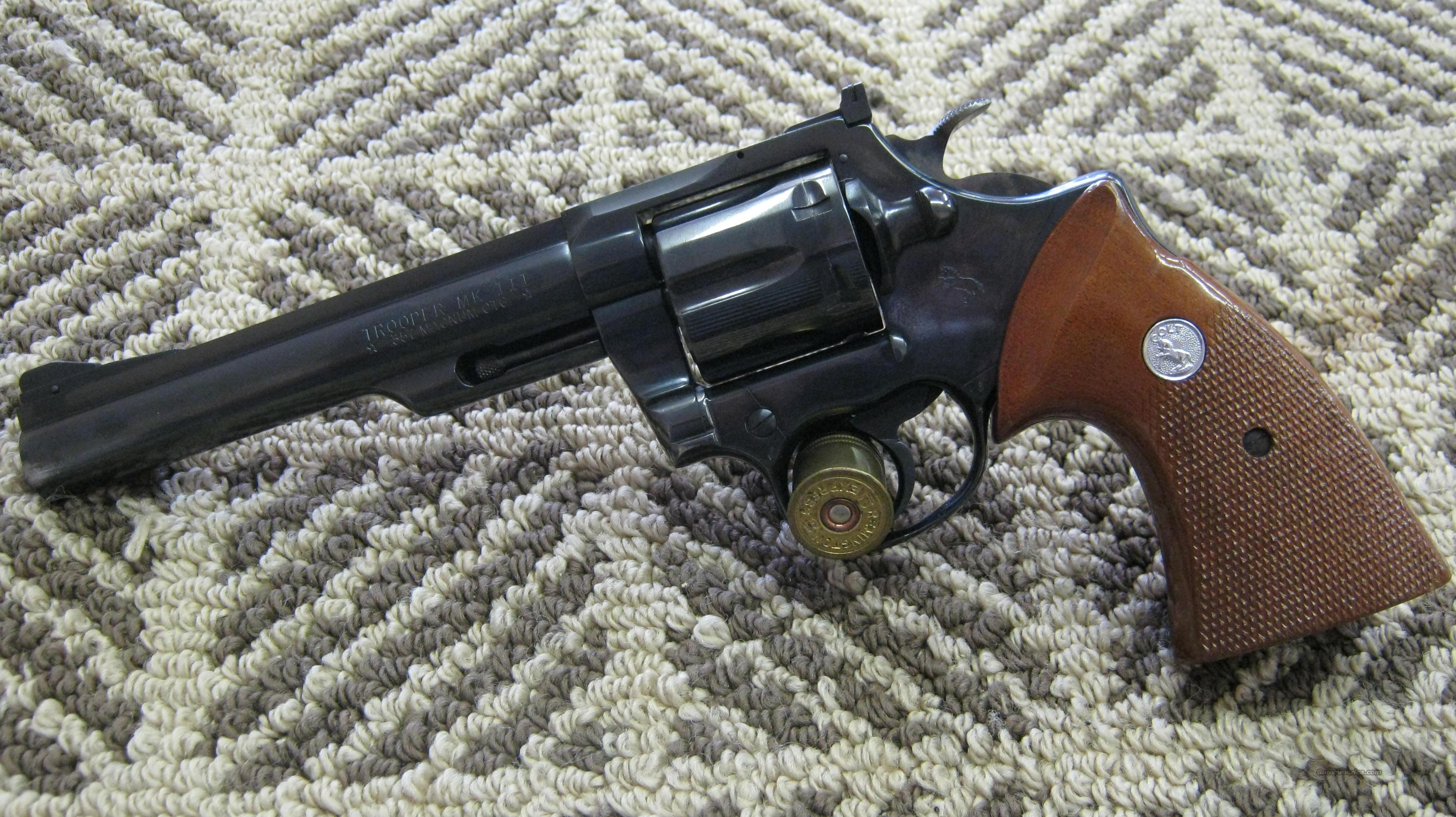 Colt Trooper MKIII .357  Guns > Pistols > Colt Double Action Revolvers- Modern