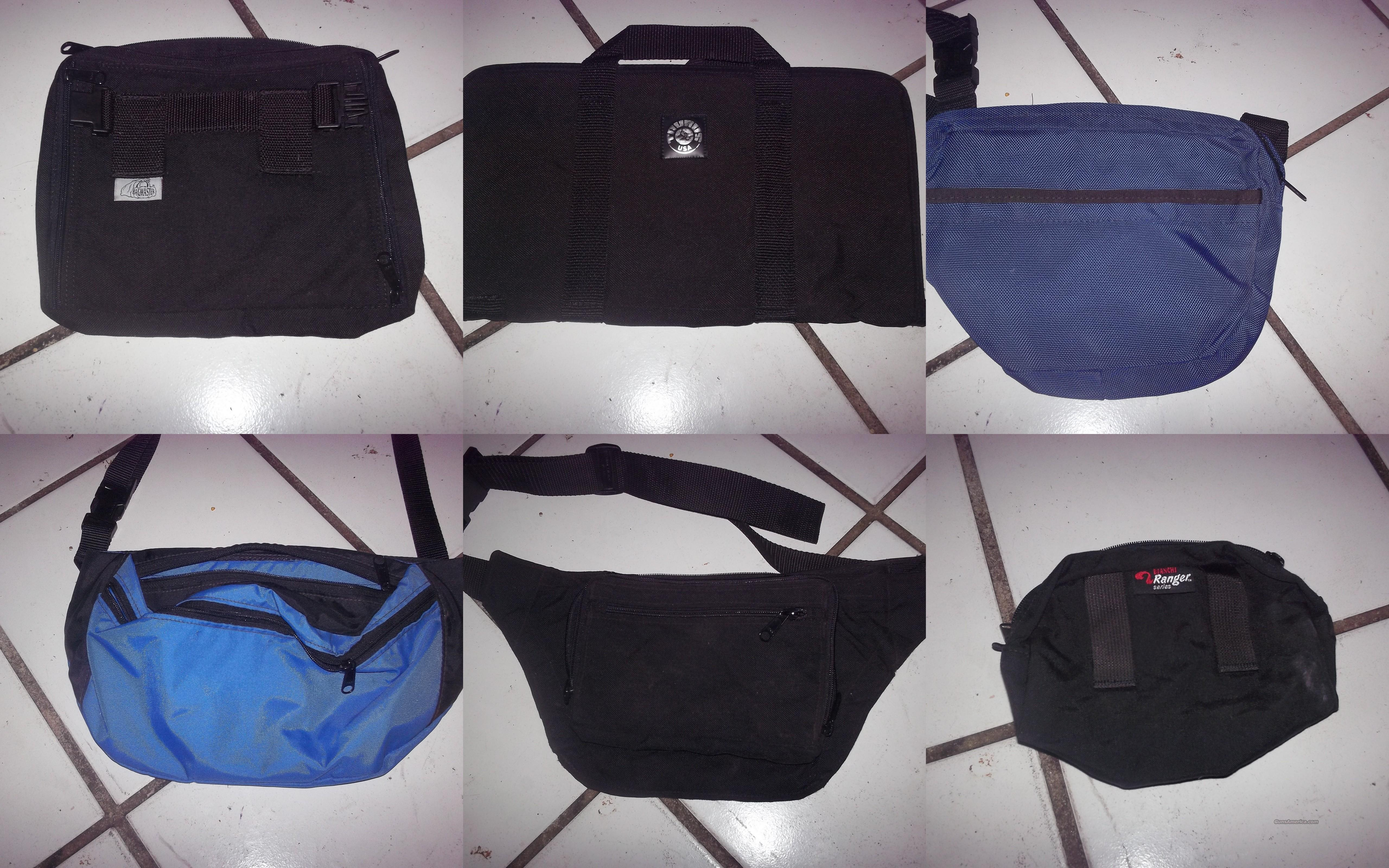2 blue 1 black fanny bags bagmaster bag taurus bag   Non-Guns > Hunting Clothing and Equipment > Ammo Pouches/Holders/Shell Bags
