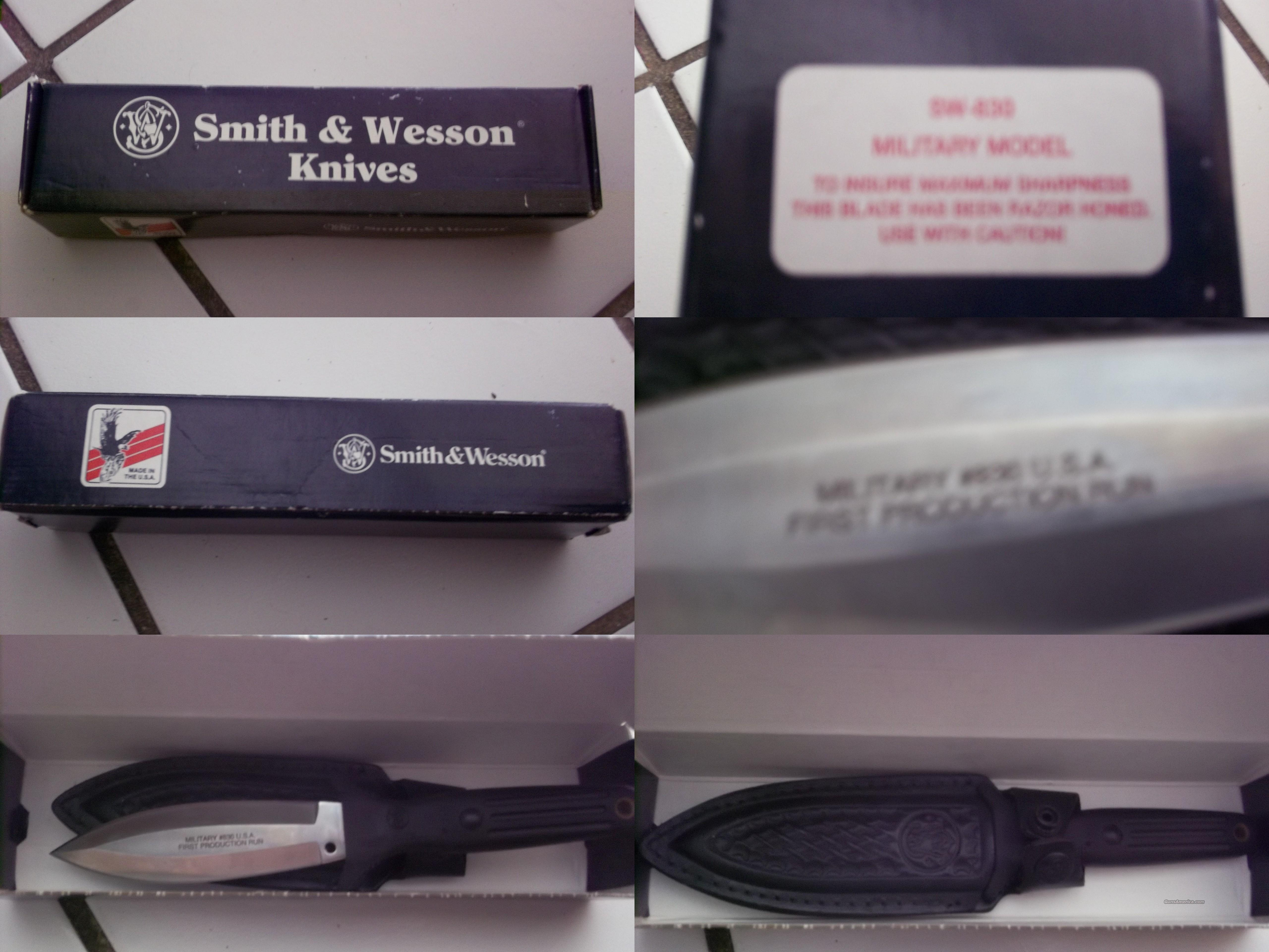 smith and wesson knive sw-830 military model  Non-Guns > Knives/Swords > Military > Non-Bayonets