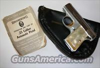 Like NEW BABY BROWNING 25 ACP IN CASE  Guns > Pistols > Browning Pistols > Baby Browning