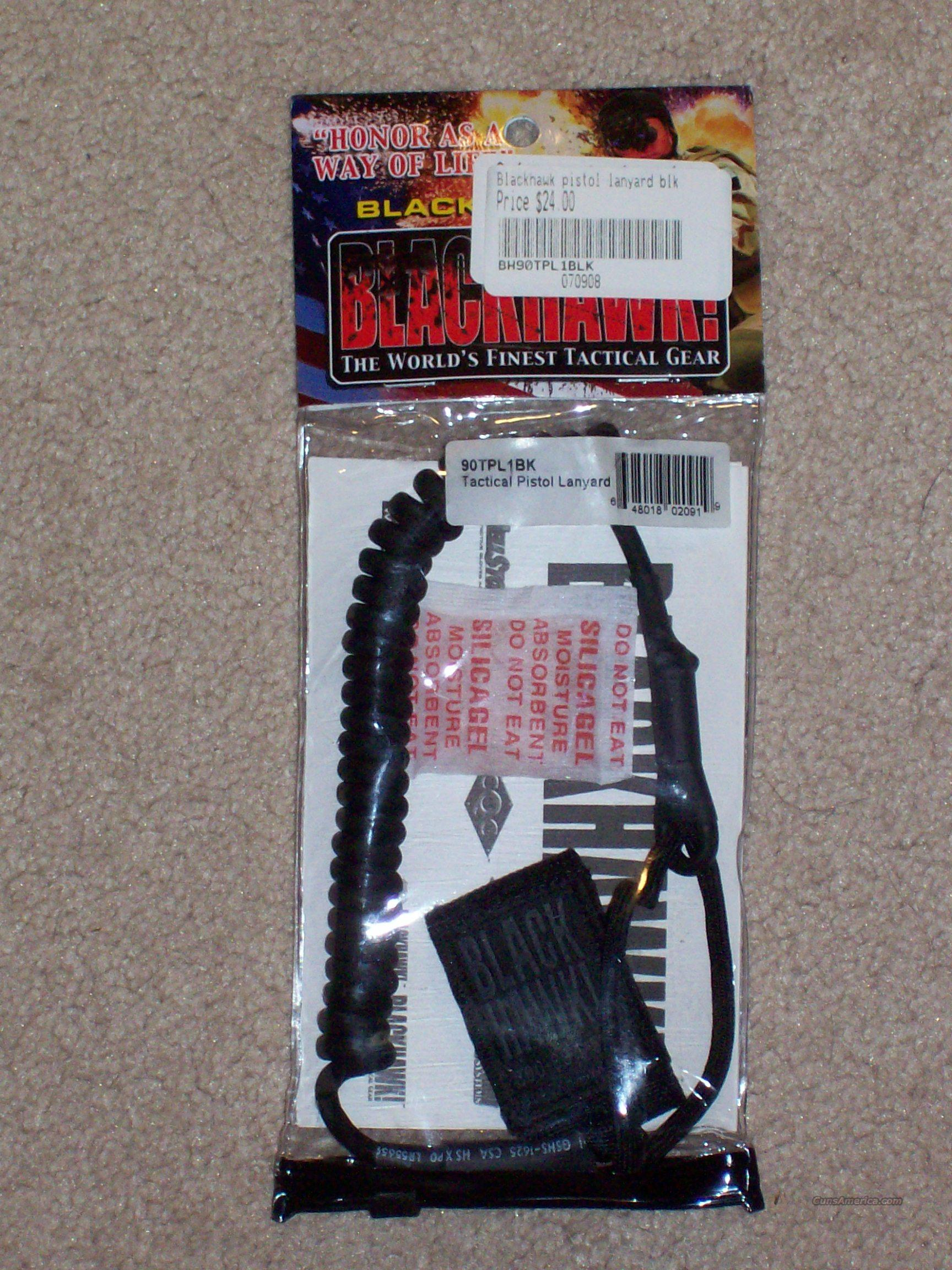 Blackhawk Coiled Tactical Pistol Lanyard 90TPL  Non-Guns > Tactical Equipment/Vests