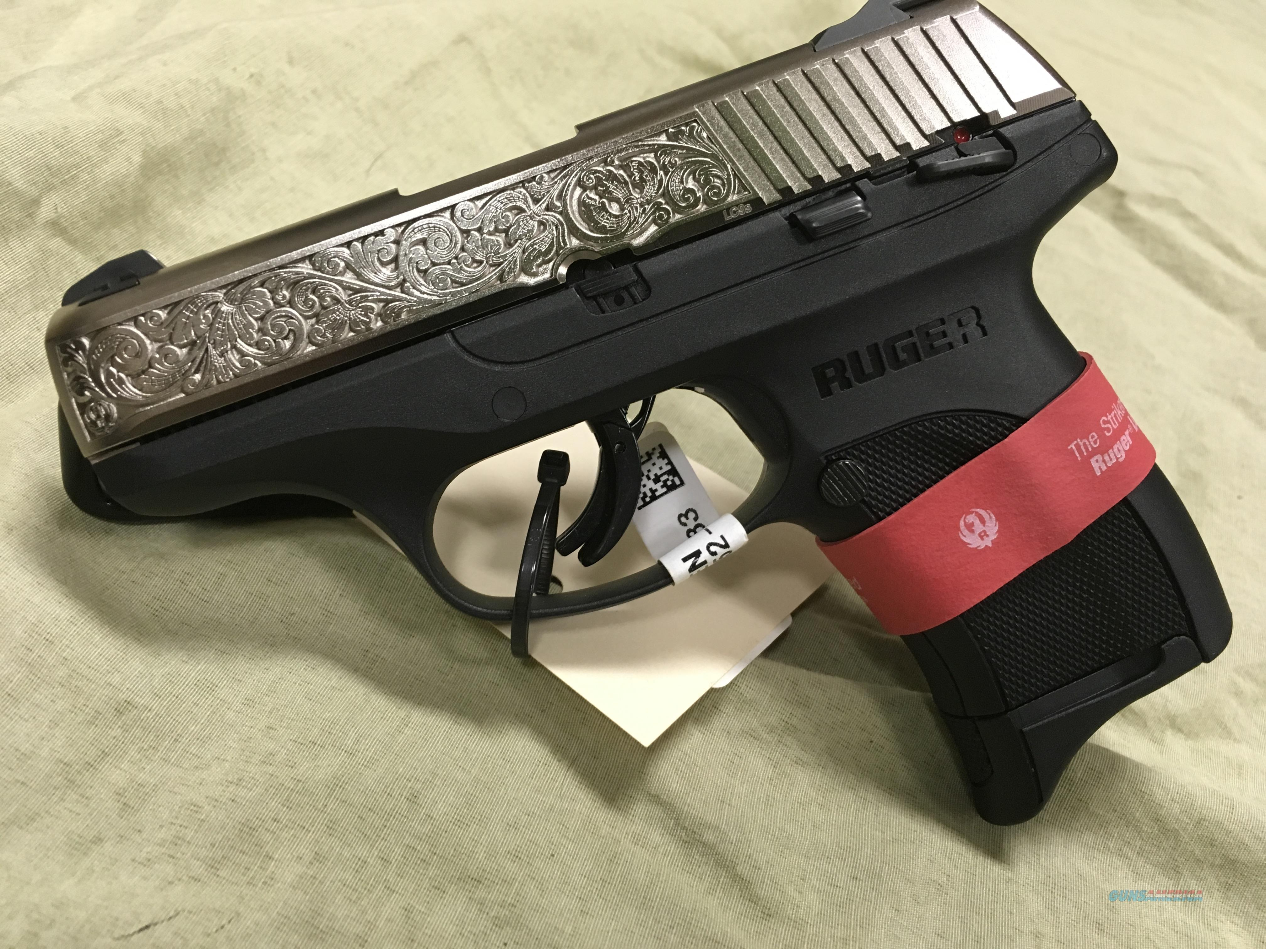 Ruger LC9S 9mm Engraved Stainless Slide  Guns > Pistols > Ruger Semi-Auto Pistols > LC9