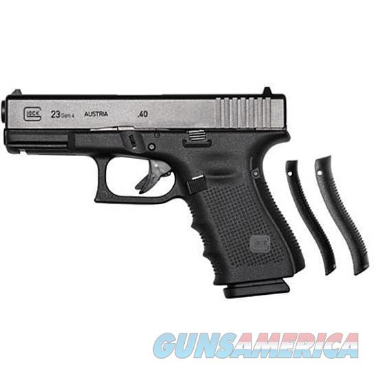 "GLOCK 23 Gen4 Semi Automatic Handgun .40 S&W 4.02"" Barrel 313 Round Magazines Polymer Grips Fixed Sights Black Finish   Guns > Pistols > Glock Pistols > 23"