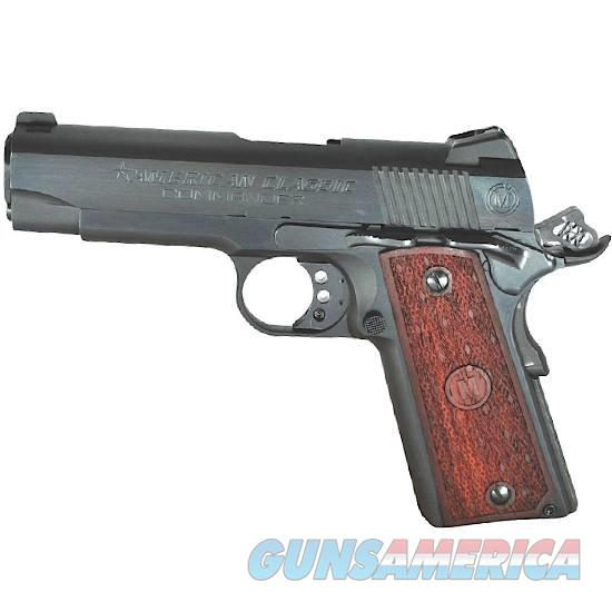 "American Classic 1911 Commander Semi Automatic Pistol .45 ACP 4.25"" Barrel 8 Round Capacity Wood Grips Deep Blued Finish   Guns > Pistols > 1911 Pistol Copies (non-Colt)"