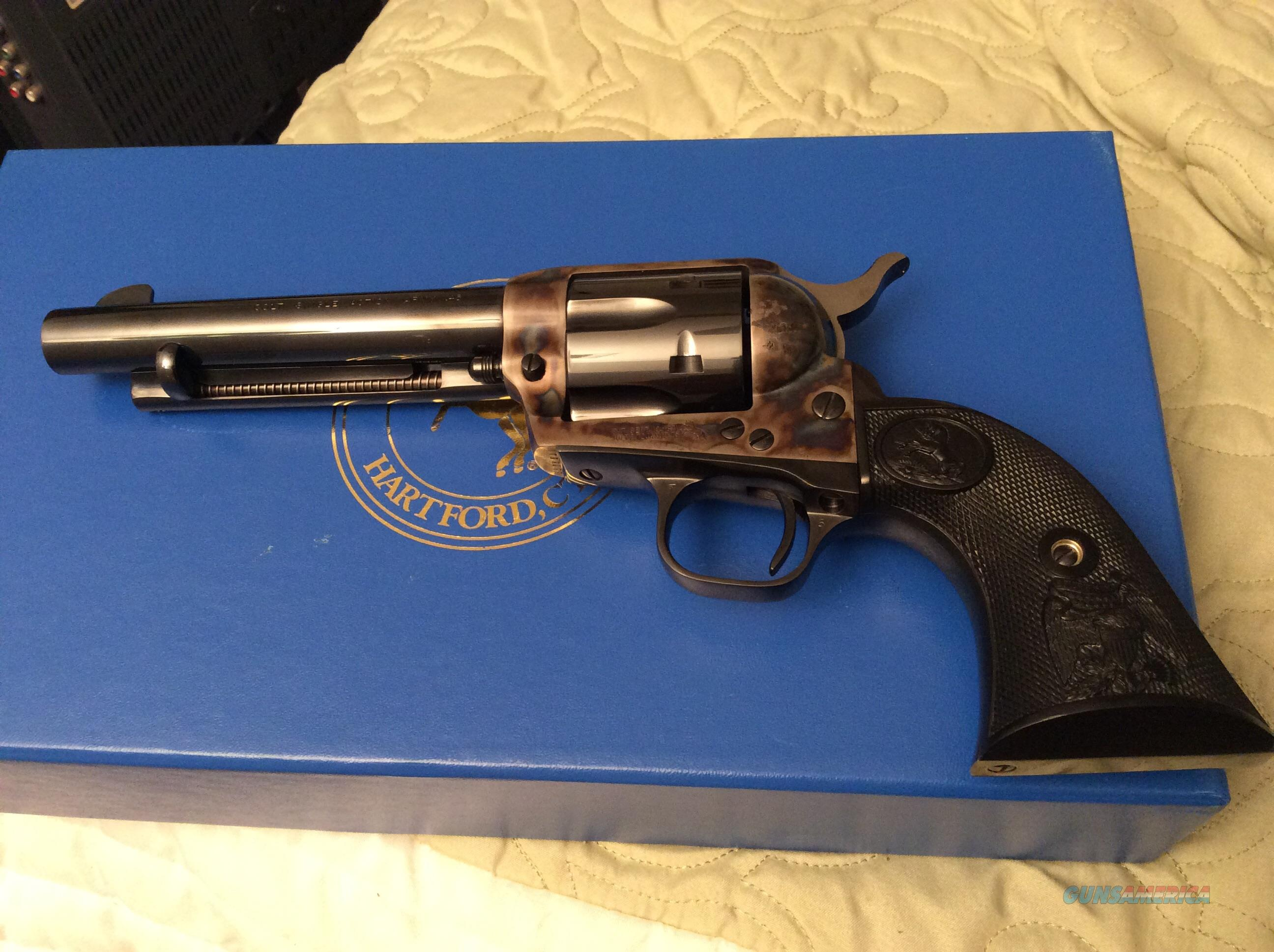 l Colt 3rd Generation Single Action Revolver. Like new condition. Box and paperwork may not be original to the gun.  Guns > Pistols > Colt Single Action Revolvers - 3rd Gen.