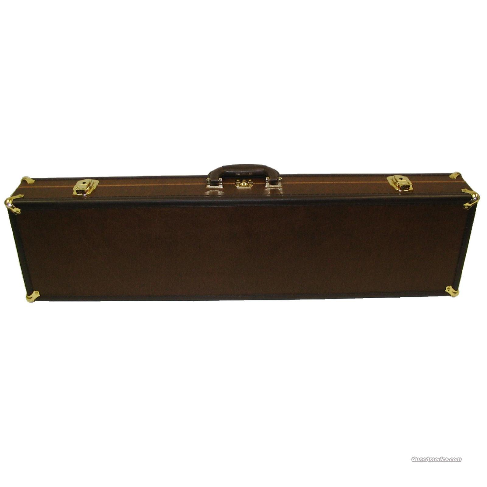 SportLock 00037 LeatherLock: Single Rifle Deluxe Takedown Case - Brown  Non-Guns > Gun Cases