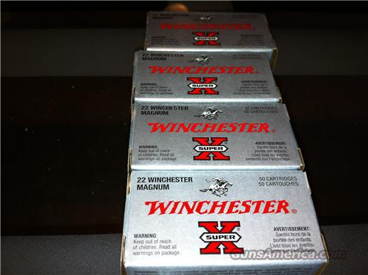 Winchester Super X 22 Magnum Ammo 4 Boxes 40G Hollow Points  Non-Guns > Ammunition
