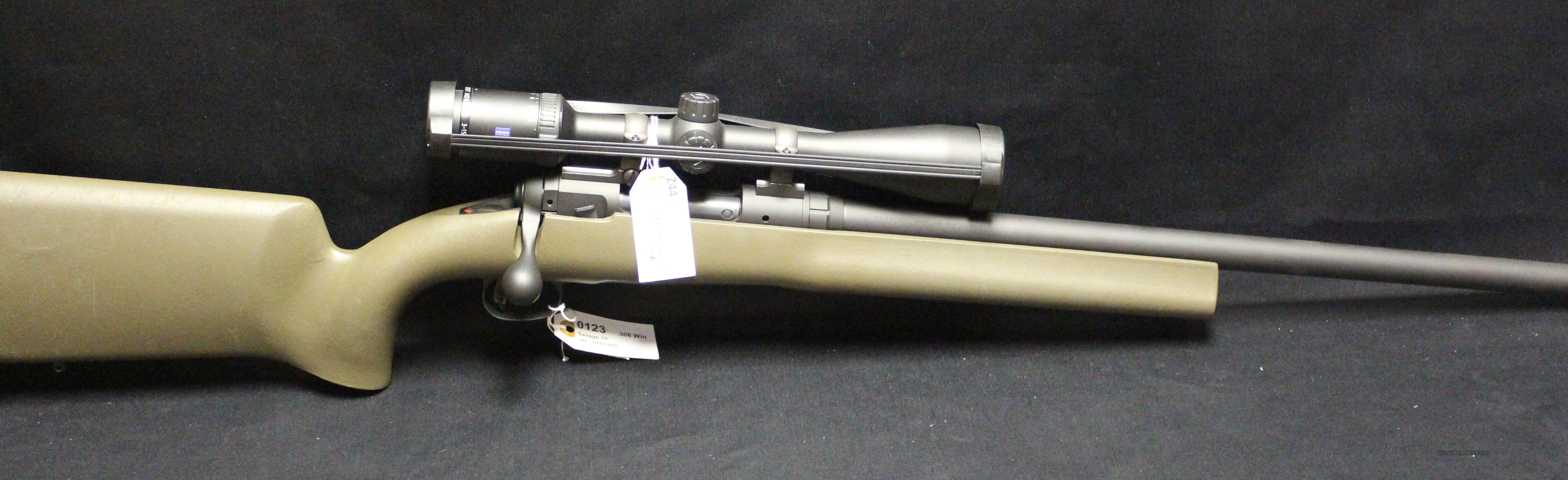 Savage 10 308 +Zeiss Scope  Guns > Rifles > Savage Rifles > Accutrigger Models > Sporting