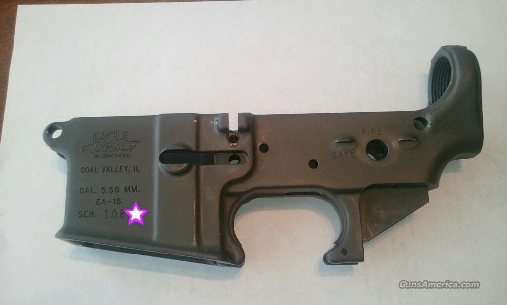Pre-ban AR-15  Eagle Arms (Armalite) Lower receiver  Guns > Rifles > Armalite Rifles > Lower Only