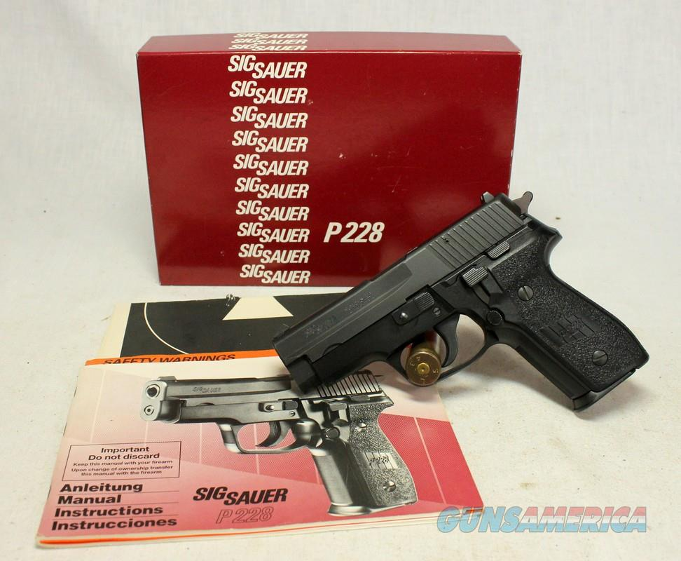 German Sig Sauer P228 FIRST YEAR PRODUCTION semi-auotmatic pistol ~ BOX, PAPERS, EXTRA MAG  Guns > Pistols > Sig - Sauer/Sigarms Pistols > P228