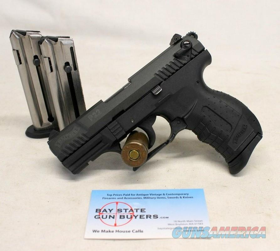 Walther P22 semi-automatic pistol ~ .22LR ~ (3) Magazines ~ GREAT CONDITION  Guns > Pistols > Walther Pistols > Post WWII > P22