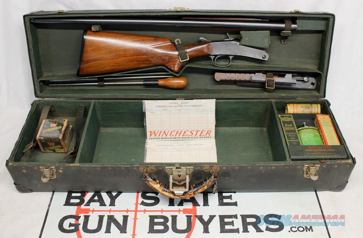 Cased Winchester Junior Trapshooting Outfit w/ Model 20 .410 Shotgun  Guns > Shotguns > Winchester Shotguns - Modern > Bolt/Single Shot