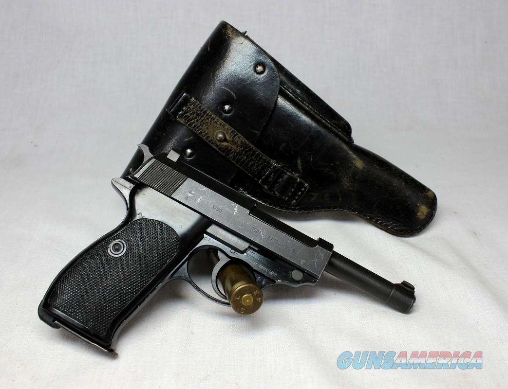 Walther P38 P1 semi-automatic pistol ~ 9mm ~ Post War (Dated 3/59) with Original Holster  Guns > Pistols > Walther Pistols > Post WWII > P38