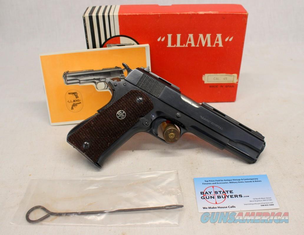 Llama Model VIII-IX-A 1911 Full Size Semi-automatic Pistol ~ BOX & MANUAL ~ Excellent Condition  Guns > Pistols > Llama Pistols