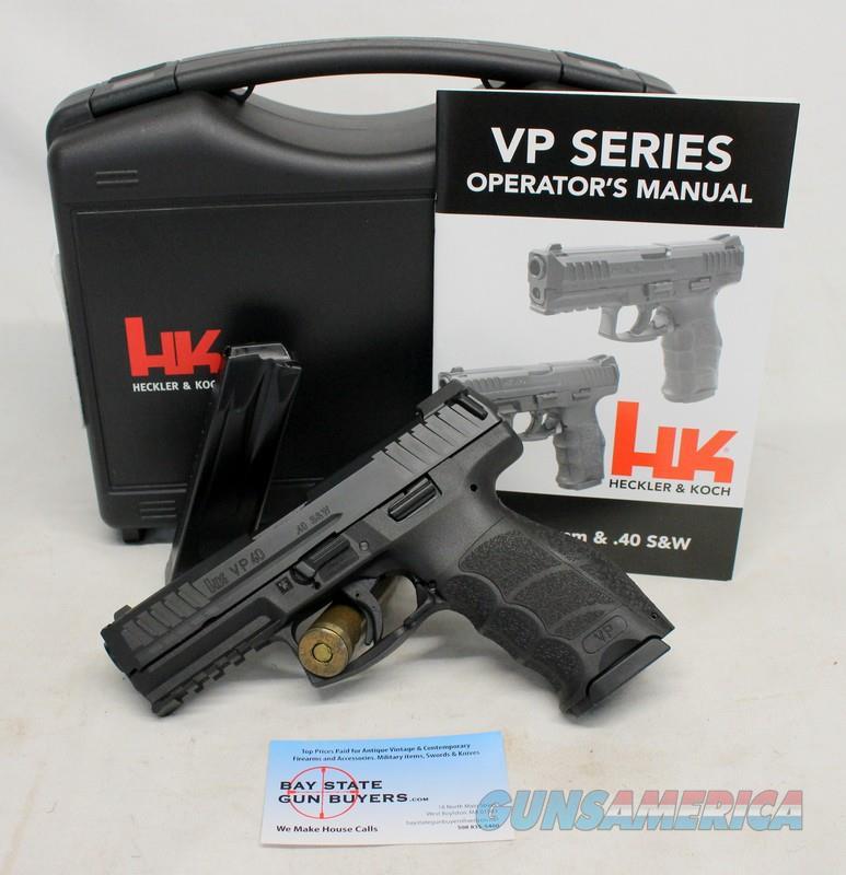 Heckler & Koch VP 40 semi-automatic pistol ~ .40SW ~ UNFIRED Like New Condition  Guns > Pistols > Heckler & Koch Pistols > Polymer Frame