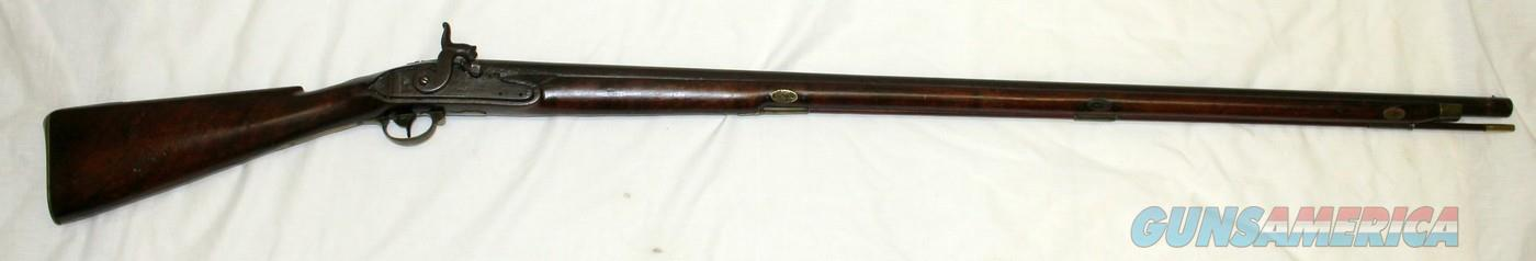 Massachusetts Militia Percussion Musket ~ I. ADAMS ~ .70 Caliber (1820's)  Guns > Rifles > Antique (Pre-1899) Rifles - Perc. Misc.
