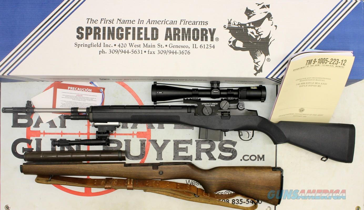 Springfield Armory M1A semi-automatic rifle ~ .308 Win ~ Composite Stock  / Wood Stock ~ ORIGINAL BOX & MANUAL (PLUS 2 PRE-BAN 20RD MAGAZINES)  Guns > Rifles > Springfield Armory Rifles > M1A/M14