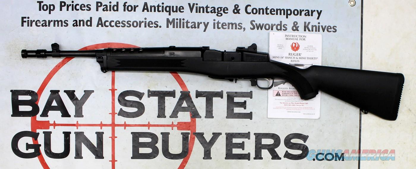 Ruger Mini-14 RANCH RIFLE ~ 5.56mm (.223 cal) ~ Synthetic Stock ~ MANUAL INCLUDED!  Guns > Rifles > Ruger Rifles > Mini-14 Type