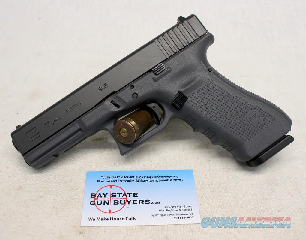 Glock 17 Gen 4 semi-automatic pistol ~ 9mm ~ Grey Cerakote Frame ~ 17rd Magazine  Guns > Pistols > Glock Pistols > 17