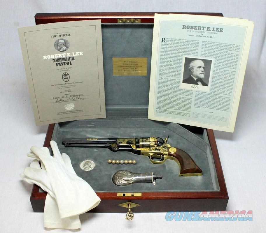Official ROBERT E. LEE Commemorative COLT 1851 NAVY REVOLVER ~ Case, Accessories & Paperwork  Guns > Pistols > Colt Replica (American) Pistols