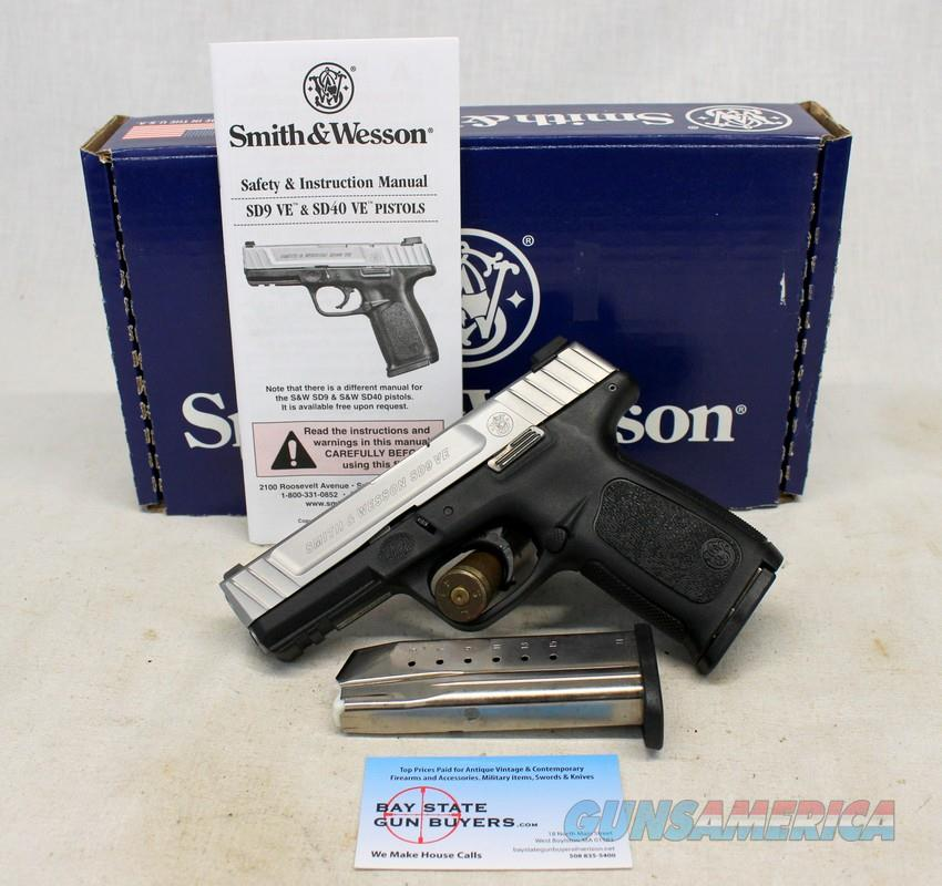 Smith & Wesson SD9 VE (SD9VE) semi-automatic pistol ~ .9mm ~ BOX & (2) 16rd Magazines  Guns > Pistols > Smith & Wesson Pistols - Autos > Polymer Frame