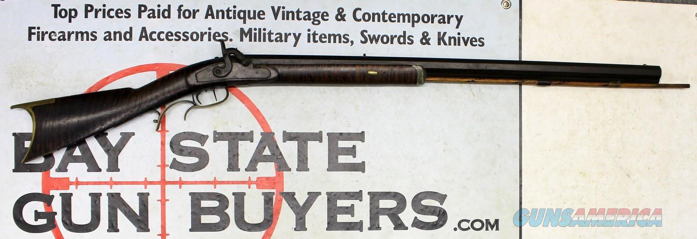 RICKETS / LEMAN Percussion Rifle .36 caliber - HEAVY - Double Triggers - LANCASTER, PA  Guns > Rifles > Antique (Pre-1899) Rifles - Perc. Misc.
