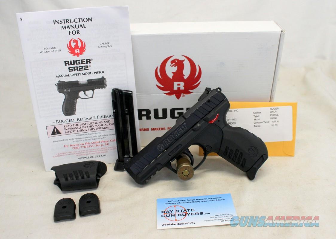 Ruger SR22 semi-automatic pistol ~ .22LR ~ Box, Manual, Magazines and More!  Guns > Pistols > Ruger Semi-Auto Pistols > SR Family > SR22