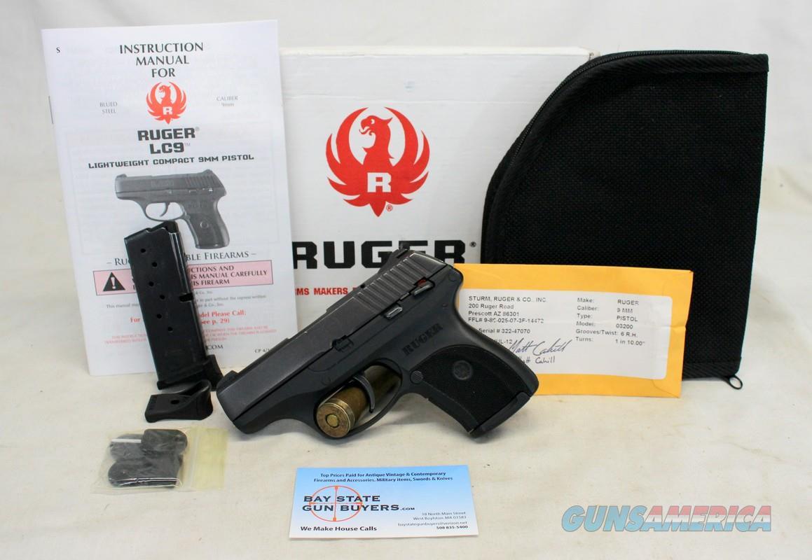 Ruger LC9 semi-automatic pistol ~ 9mm ~ Box, Manual, Magazines and more!  Guns > Pistols > Ruger Semi-Auto Pistols > LC9