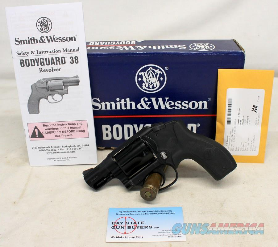 Smith & Wesson BODYGUARD 38 revolver ~ .38 Spl +P ~ 5-Shot ~ ORIGINAL BOX & MANUAL  Guns > Pistols > Smith & Wesson Revolvers > Small Frame ( J )