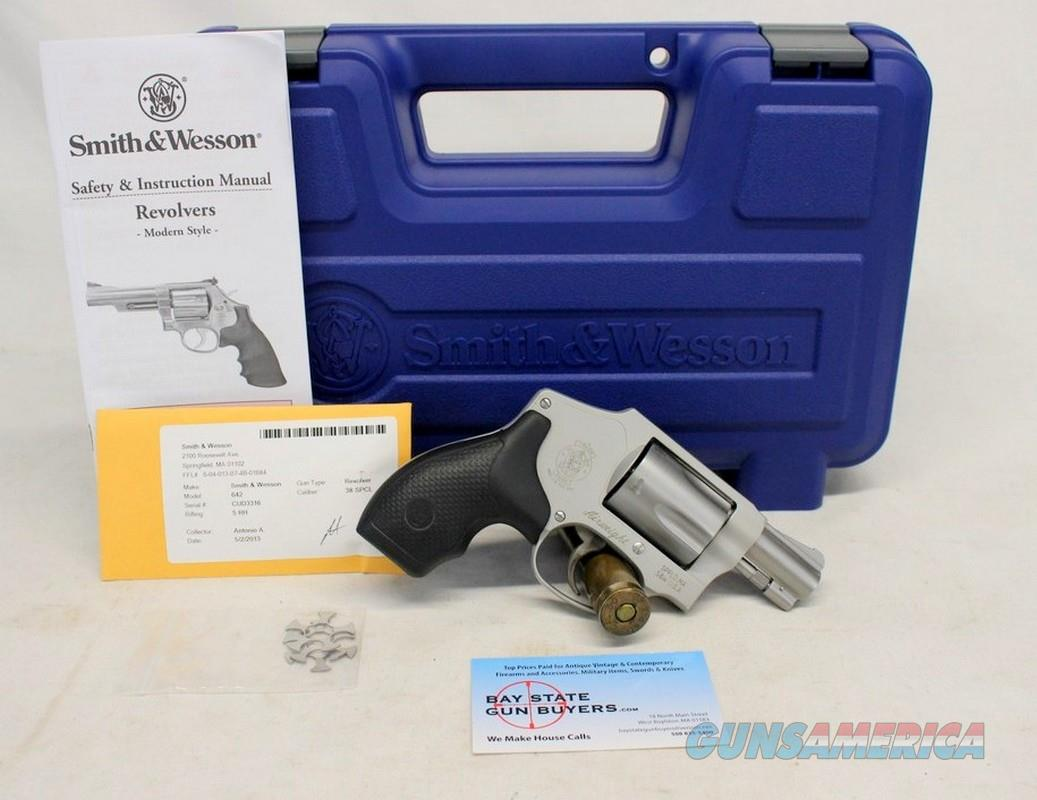Smith & Wesson Model 642-1 AIRWEIGHT revolver ~ .38Spl +P ~ Original Box, Manual ~ PRE-LOCK  Guns > Pistols > Smith & Wesson Revolvers > Small Frame ( J )
