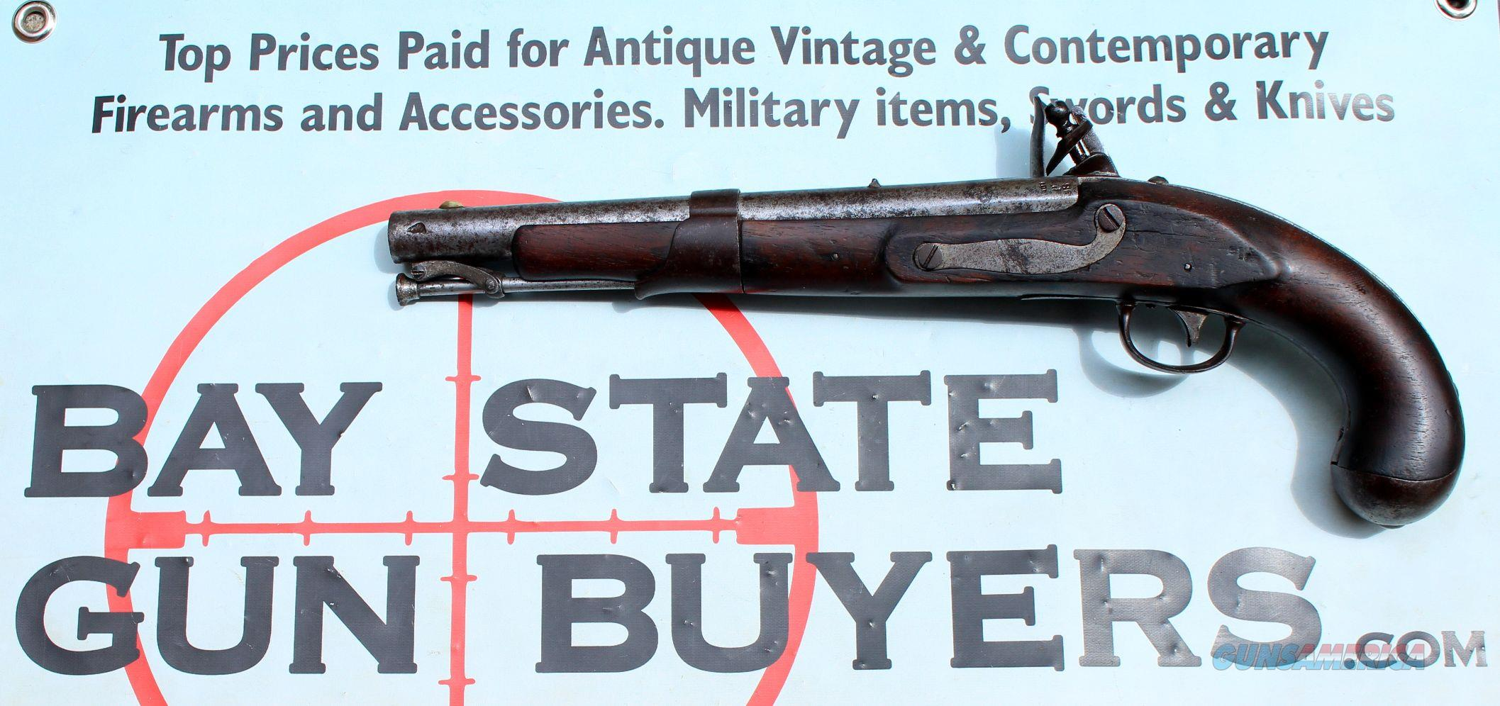 U.S. Model 1819 SIMEON NORTH Flintlock Pistol dated 1822 - .54 Caliber - ORIGINAL MARTIAL PISTOL  Guns > Pistols > Antique (Pre-1899) Pistols - Perc. Misc.