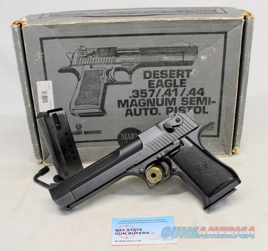 IMI / Magnum Research DESERT EAGLE Mark VII ~ .44 Magnum ~ CARDBOARD BOX & (2) Factory 8rd Magazines  Guns > Pistols > IMI Pistols