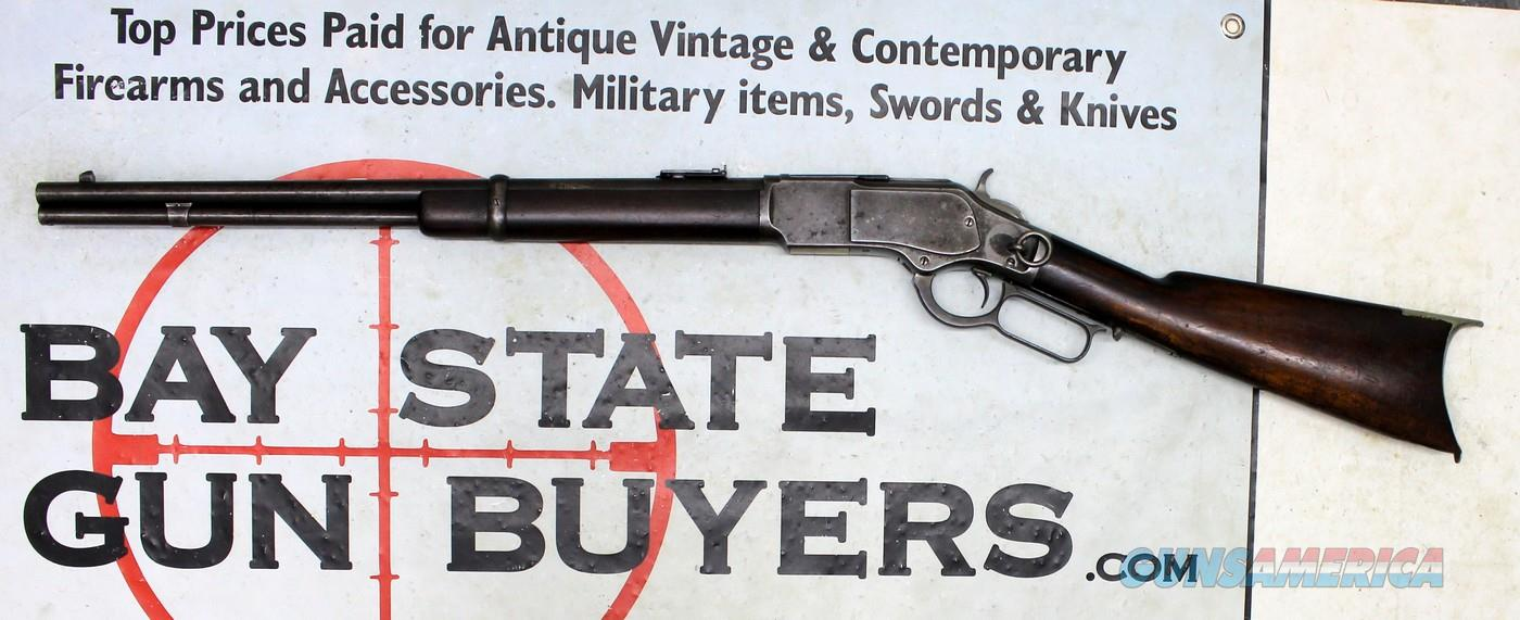 Antique Winchester MODEL 1873 SADDLE RING CARBINE ~ .32-20 ~ 1887 Mfg.  Guns > Rifles > Winchester Rifles - Pre-1899 Lever