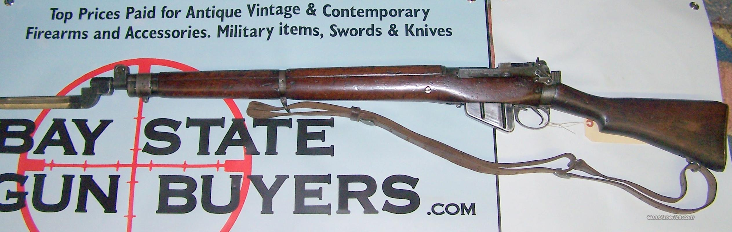 1943 Lee Enfield No.4 MK I w/Bayonette. Long Branch  Guns > Rifles > Enfield Rifle