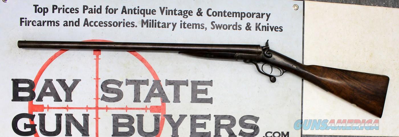 Antique JAMES ALLEN Underlever SxS Shotgun ~ 12GA. ~ Birmingham, England  Guns > Shotguns > Antique (Pre-1899) Shotguns - Misc.