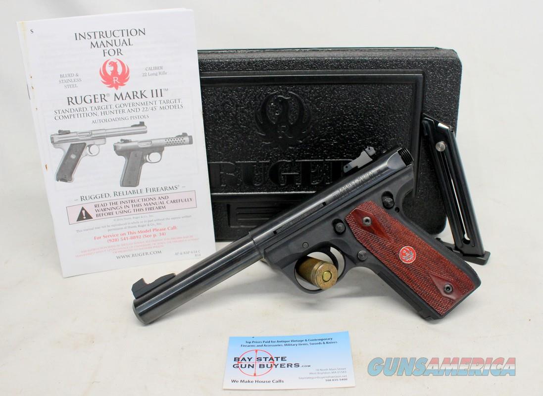 Ruger MKIII  semi-automatic Target Pistol ~ .22LR ~ EXCELLENT w/ Original Box, Manual & Extra Mag  Guns > Pistols > Ruger Semi-Auto Pistols > Mark I/II/III/IV Family